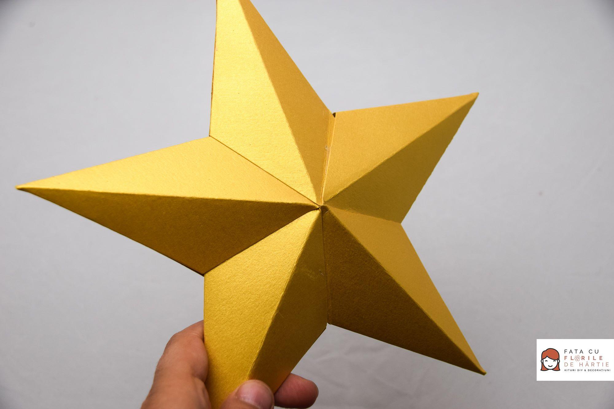 Kit Hobby pentru Stea de Hartie 3D - Aurie