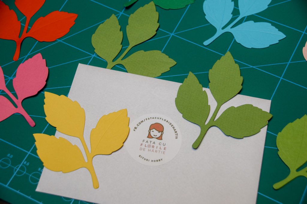 Set frunze de 3 de hartie pentru scrapbooking