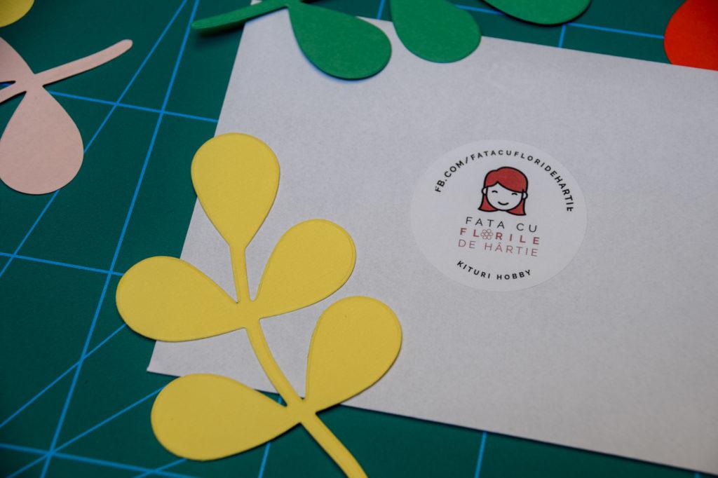 Set frunze tip crenguta hartie pentru scrapbooking