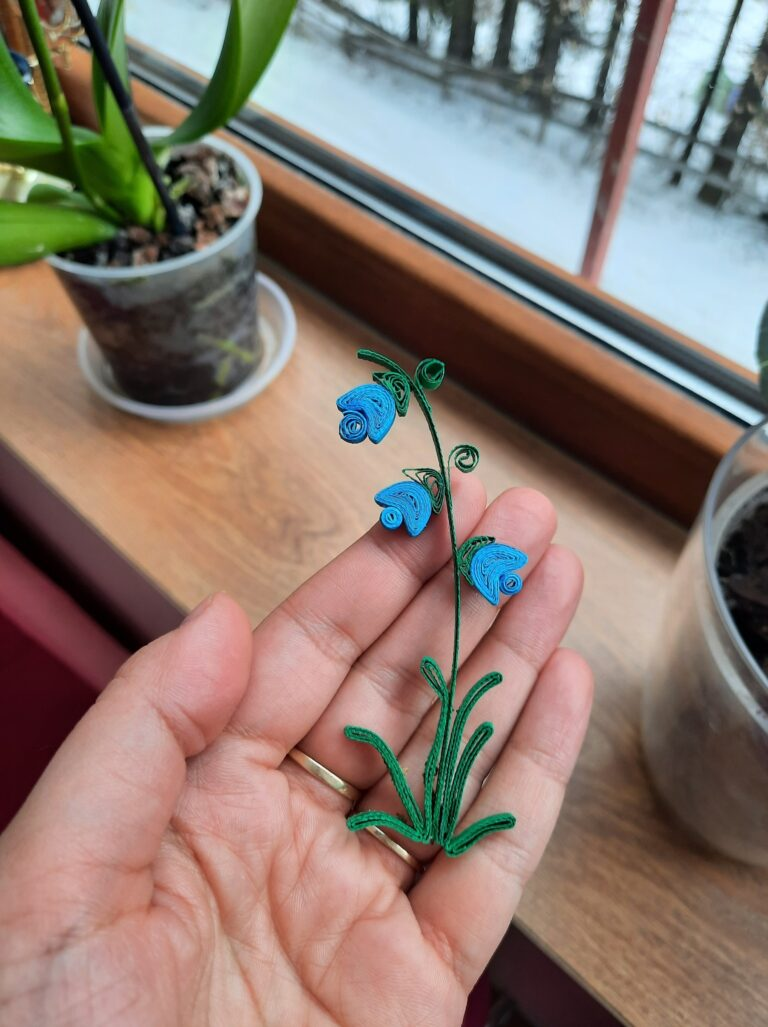 Tutorial DIY din Hartie: Clopotei | Flori Quilling Realizate Manual