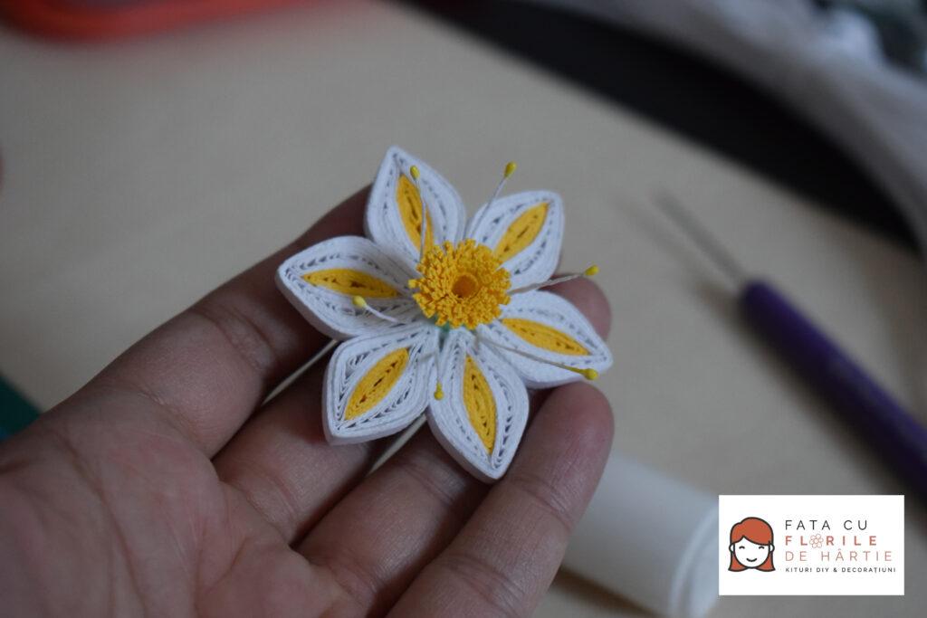 Tutorial DIY Floare de Hartie In Tehnica Quilling