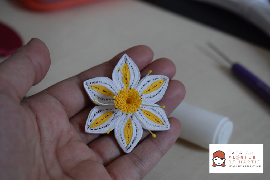 Tutorial DIY: Floare Quilling de Primavara​