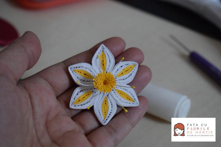 Tutorial DIY: Floare Quilling de Primavara