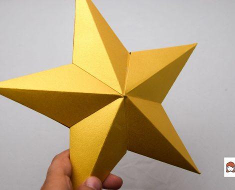 Kiturile de stelute aurii 3D create cu Sizzix