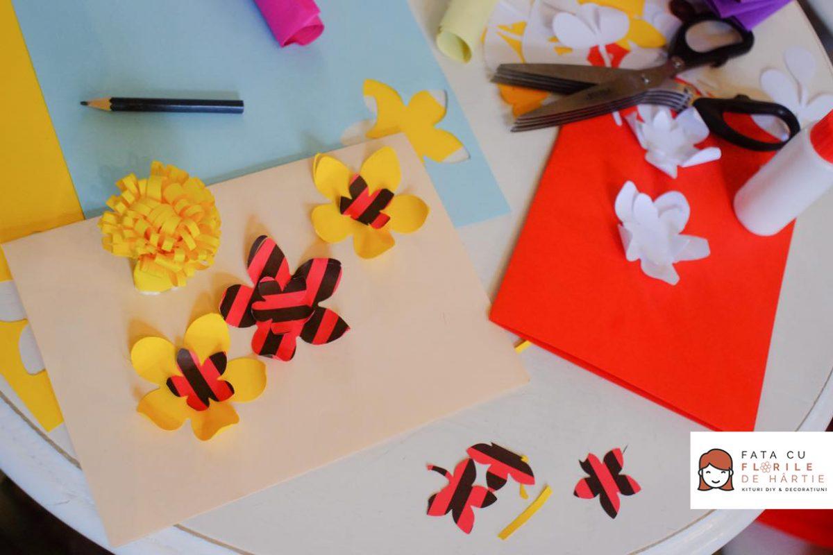 atelier creativ DIY copii adulti Circul Magic flori de hartie Bernschutz Bucuresti (14)