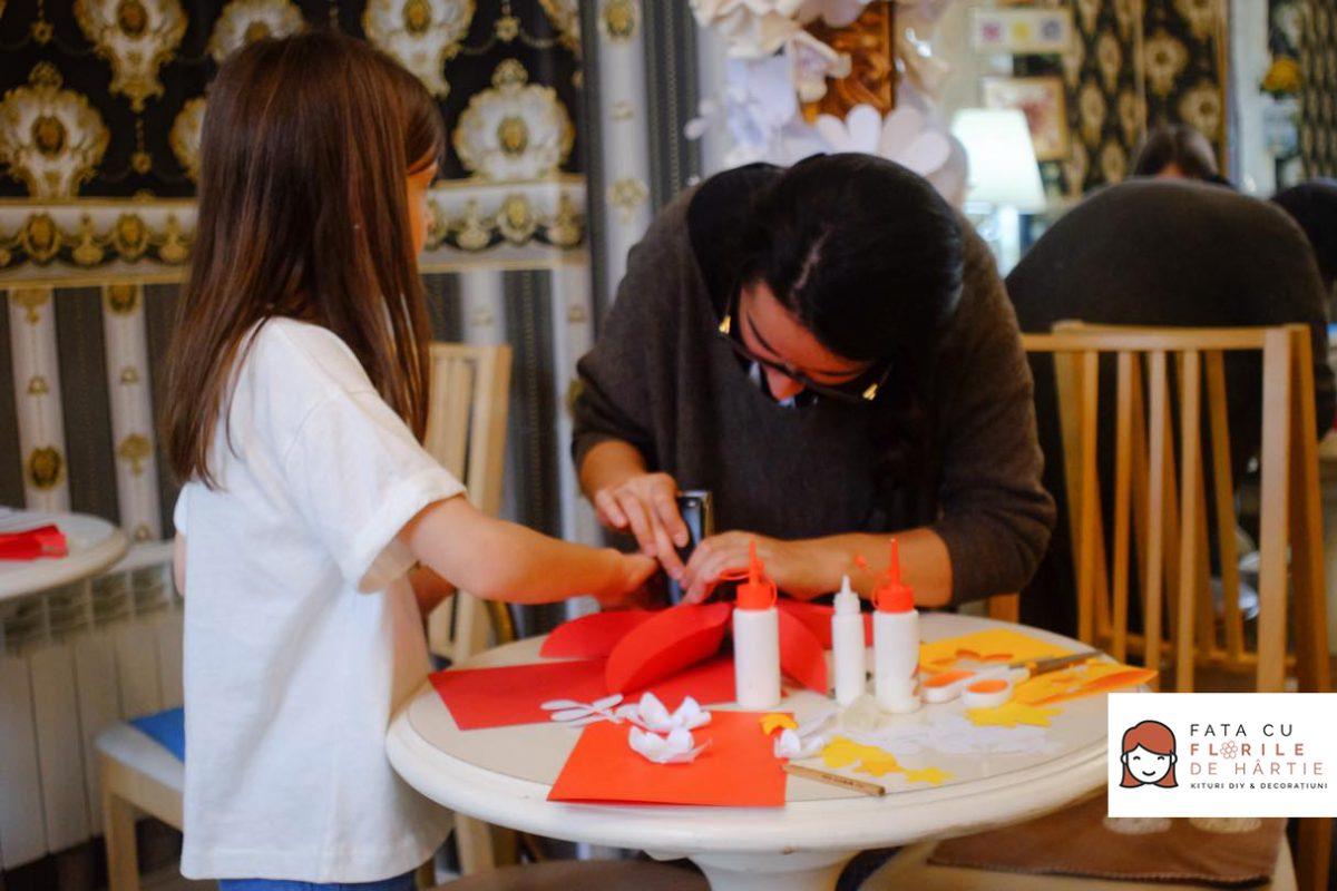 atelier creativ DIY copii adulti Circul Magic flori de hartie Bernschutz Bucuresti (16)