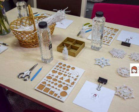 Atelier de lucru manual: realizam fulgi quilling, ornamente handmade de Craciun