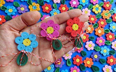 martisoare handmade quilling fata cu flori de hartie (6)